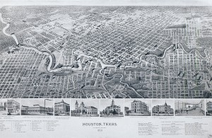Map of Houston, 1891