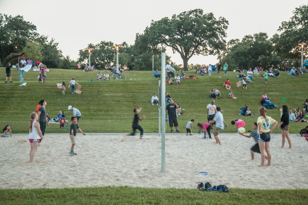 Sand volleyball court in Eleanor Tinsley Park. Photo by David A. Brown.