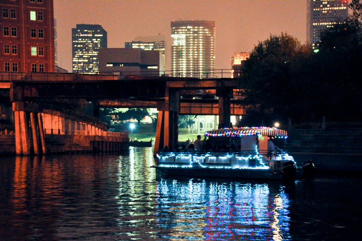 join buffalo bayou partnership in celebrating the holiday season with 30 minute pontoon boat rides along buffalo bayou served up with plenty of decorations - Christmas In The Bayou