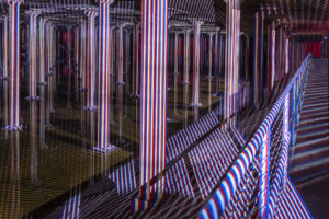 Carlos Cruz-Diez Art Installation at the BBP Cistern